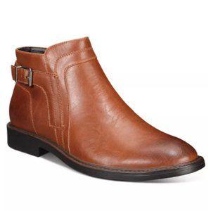 Alfani Men's Rogan Tan Faux Leather Chelsea Boots